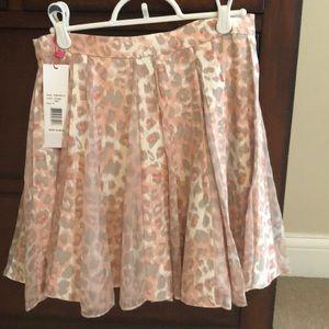 NWT Parker pink animal print skirt